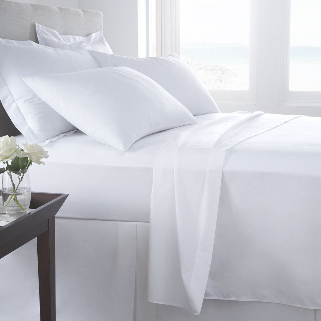Percale T 200 Premium Full Size Flat Sheets ...